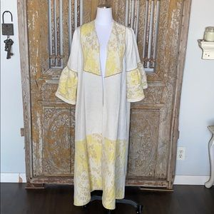 UNBRANDED PEARL EMBELLISHED ROBE LUXURY MATERIAL L